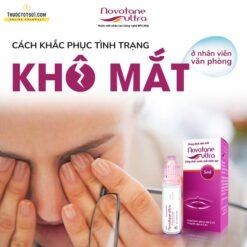nước mắt nhân tạo Novotane Ultra điều trị khô mắt mỏi mắt lọ 5ml