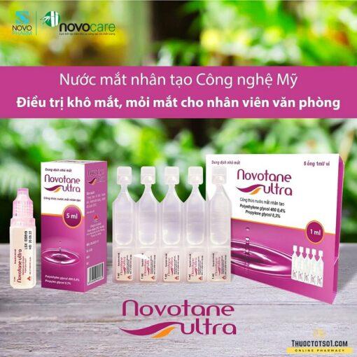 nước mắt nhân tạo Novotane Ultra điều trị khô mắt mỏi mắt thuoctotso1