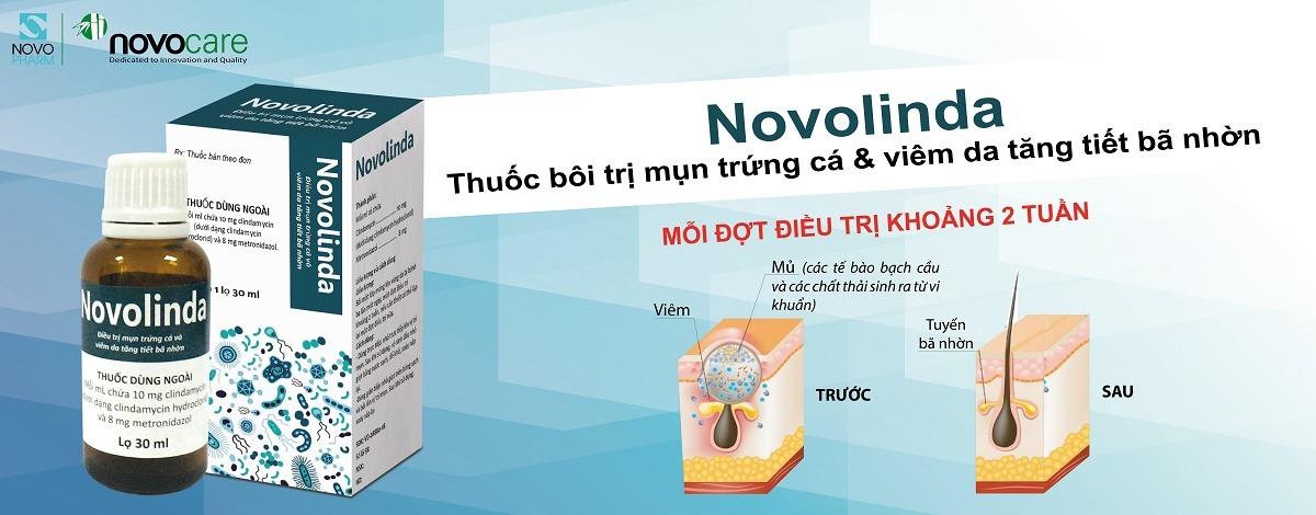 thuốc bôi novolinda điều trị mụn trứng cá banner