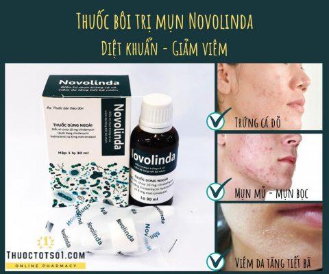 thuốc bôi novolinda điều trị mụn trứng cá diệt khuẩn giảm viêm