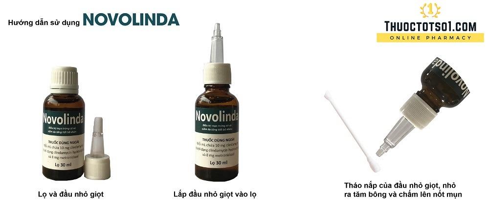 thuốc bôi novolinda điều trị mụn trứng cá hướng dẫn sử dụng
