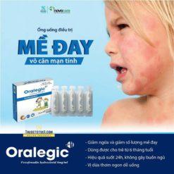 thuốc dị ứng trẻ em Oralegic vị sữa dừa thơm điều trị mề đay mạn tính