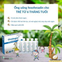 thuốc dị ứng trẻ em Oralegic vị sữa dừa thơm dùng cho trẻ từ 6 tháng tuổi