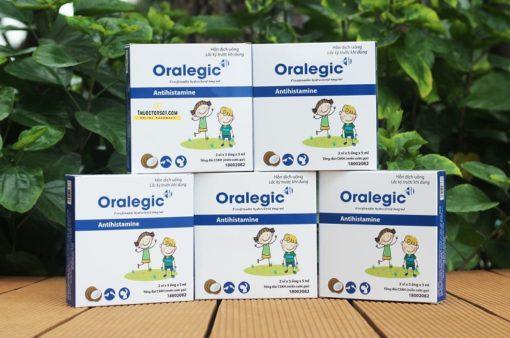thuốc dị ứng trẻ em Oralegic vị sữa dừa thơm ống 5ml cho trẻ nhỏ