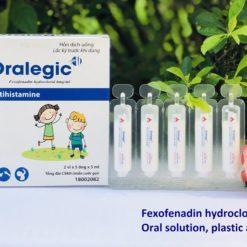 thuốc dị ứng trẻ em Oralegic vị sữa dừa thơm thành phần fexofenadin