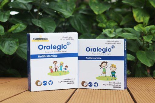 thuốc dị ứng trẻ em Oralegic vị sữa dừa thơm thuoctotso1.com