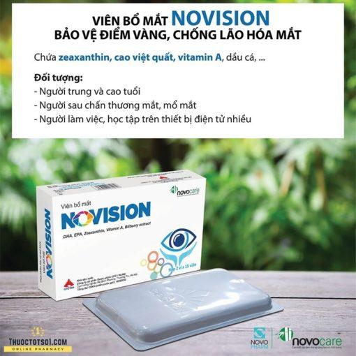 viên bổ mắt Novision giúp sáng mắt & tăng cường thị lực bảo vệ điểm vàng