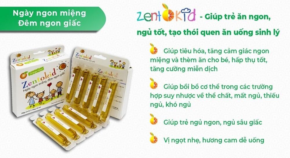Zentokid giúp trẻ ăn ngon miệng ngủ ngon giấc