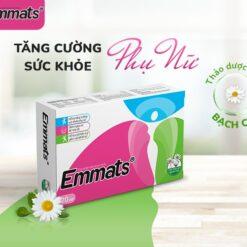Emmats giúp tăng cường cân bằng nội tiết tố nữ Estrogen tăng cường sức khỏe phụ nữ