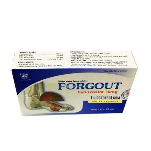 Forgout chiến binh đắc lực điều trị gút chính hãng
