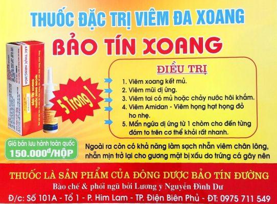 thuốc đông dược Bảo Tín Xoang đặc trị viêm đa xoang điều trị 5 trong 1