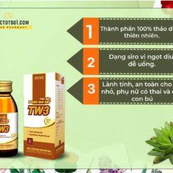 tiêu độc nhuận gan mật TW3 siro thuốc từ 9 vị thảo dược đông y a toàn hiệu quả
