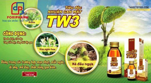 tiêu độc nhuận gan mật TW3 siro thuốc từ 9 vị thảo dược đông y Foripharm