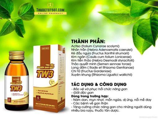 tiêu độc nhuận gan mật TW3 siro thuốc từ 9 vị thảo dược đông y hàng chính hãng
