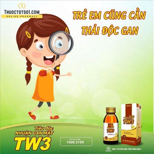 tiêu độc nhuận gan mật TW3 siro thuốc từ 9 vị thảo dược đông y thải độc gan trẻ em