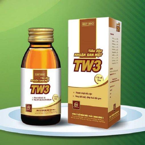 tiêu độc nhuận gan mật TW3 siro thuốc từ 9 vị thảo dược đông y thuoctotso1