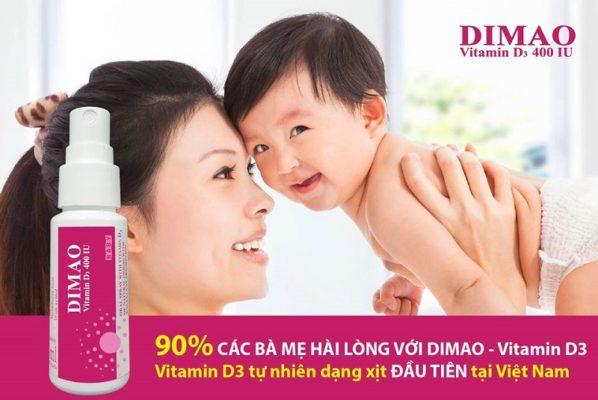 vitamin D3 dạng xịt Dimao cho trẻ thêm cao chất lượng cao