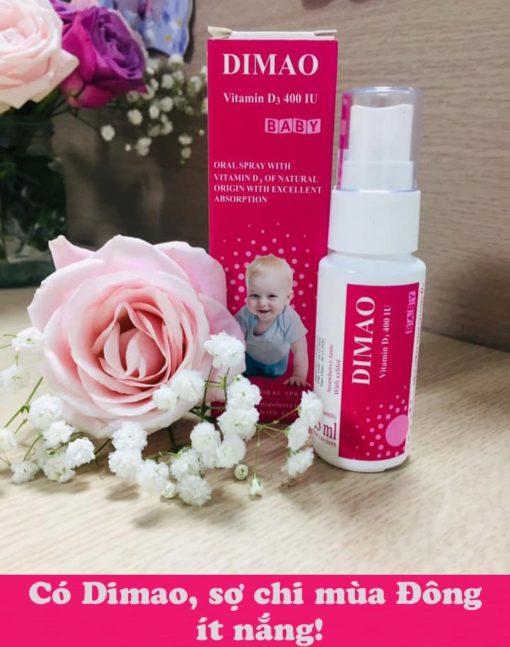 vitamin D3 dạng xịt Dimao cho trẻ thêm cao CTT pharma