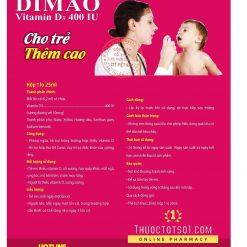 vitamin D3 dạng xịt Dimao cho trẻ thêm cao cục ATTP xác nhận