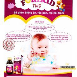 Forikid TW3 giúp bé giảm đái dầm mồ hôi trộm Bộ Y tế xác nhận