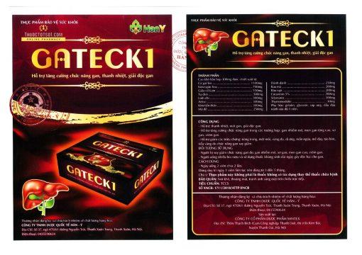 Gateck 1 chiết xuất từ 13 loại thảo mộc tốt cho gan Bộ Y tế xác nhận