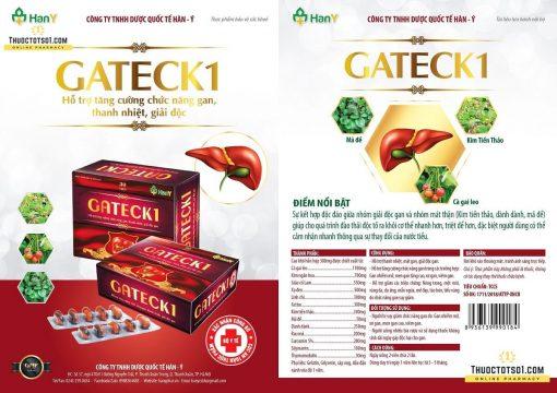 Gateck 1 chiết xuất từ 13 loại thảo mộc tốt cho gan chính hãng