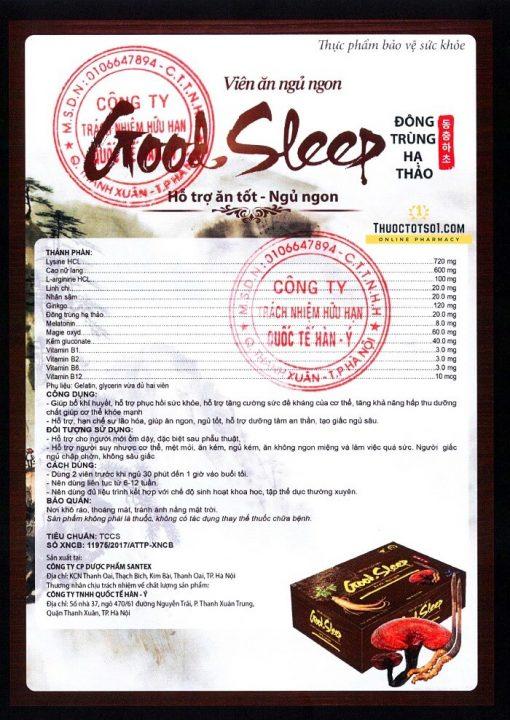 Good Sleep ăn tốt ngủ ngon không còn mệt mỏi chính hãng