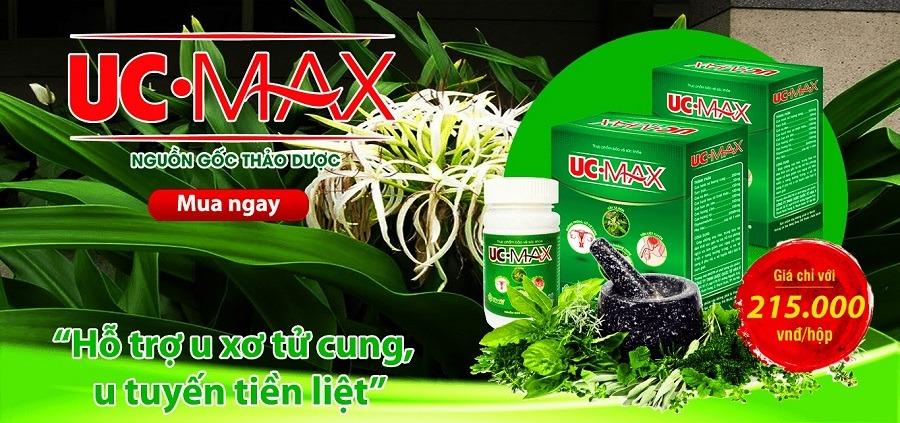 UC Max khắc tinh u tử cung u tiền liệt tuyến nguồn gốc thảo dược
