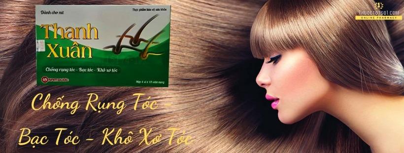 viên uống chống rụng tóc nữ Thanh Xuân Nữ Nam Dược banner