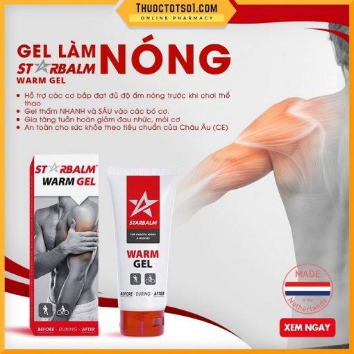 gel làm nóng cơ Starbalm giảm đau giảm mỏi giúp thư giãn cơ an toàn