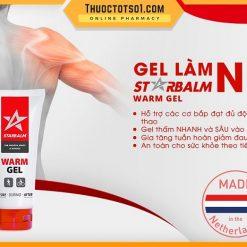 gel làm nóng cơ Starbalm giảm đau giảm mỏi giúp thư giãn cơ bắp cao cấp