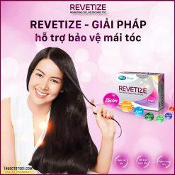 viên uống giảm rụng tóc Revetize kích thích mọc tóc giúp tóc chắc khỏe Mega We Care