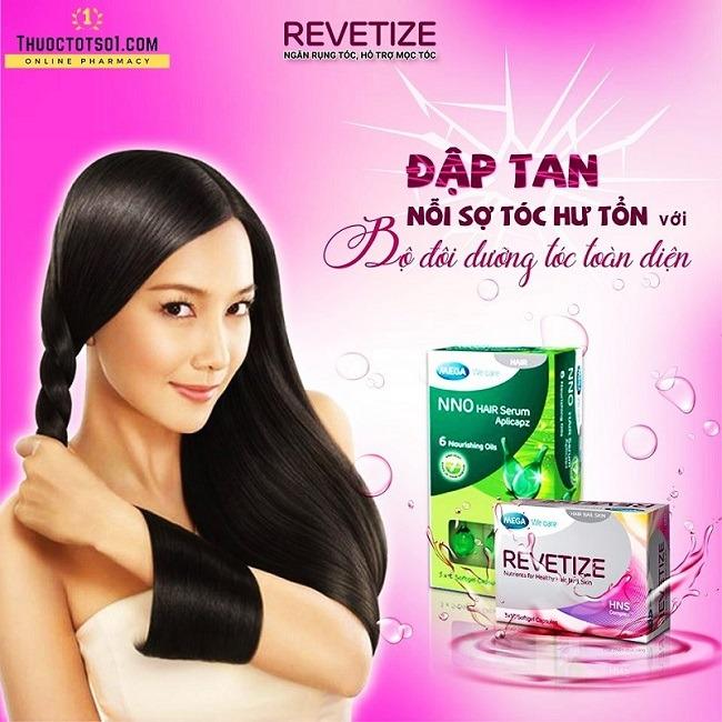viên uống giảm rụng tóc Revetize kích thích mọc tóc giúp tóc chắc khỏe NNO Hair