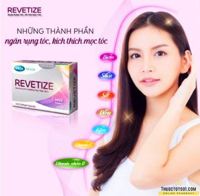 viên uống giảm rụng tóc Revetize kích thích mọc tóc giúp tóc chắc khỏe Thái Lan