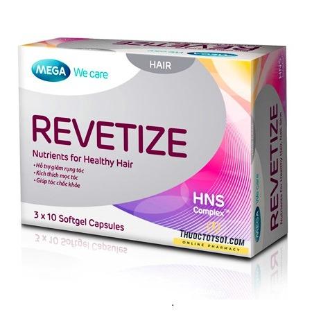 viên uống giảm rụng tóc Revetize kích thích mọc tóc giúp tóc chắc khỏe thuoctotso1