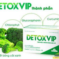 viên thải độc tế bào Detoxvip giảm nguy cơ u bướu bông cải xanh