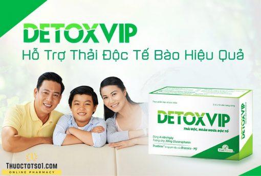 viên thải độc tế bào Detoxvip giảm nguy cơ u bướu hiệu quả