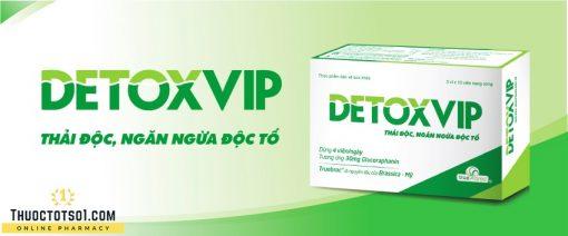 viên thải độc tế bào Detoxvip giảm nguy cơ u bướu ngăn ngừa độc tố