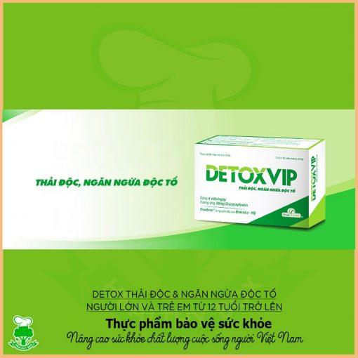 viên thải độc tế bào Detoxvip giảm nguy cơ u bướu thực phẩm chức năng