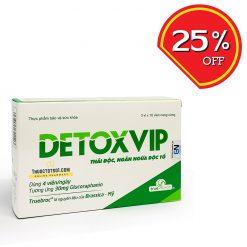 viên thải độc tế bào Detoxvip giảm nguy cơ u bướu thuoctotso1