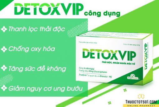 viên thải độc tế bào Detoxvip giảm nguy cơ u bướu Việt Đức