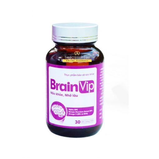 viên uống bổ não Brain Vip não khỏe nhớ lâu tăng cường trí nhớ cao cấp