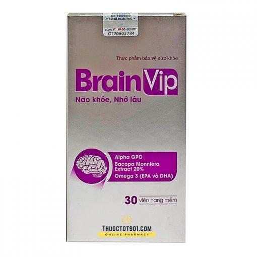 viên uống bổ não Brain Vip não khỏe nhớ lâu tăng cường trí nhớ thuoctotso1