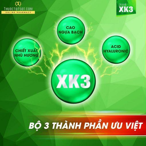 viên xương khớp XK3 công thức đột phá bộ 3 thành phần ưu việt