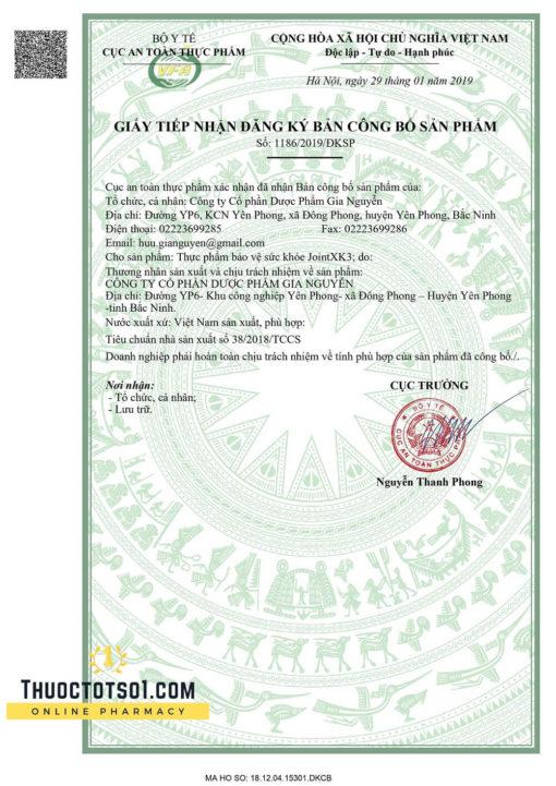 Viên Xương Khớp XK3 - Công Thức Đột Phá Rút Ngắn Liệu Trình - Giấy Phép Lưu Hành Do Bộ Y Tế Cấp