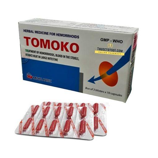 thuốc trĩ Tomoko điều trị trĩ táo bón đi ngoài ra máu Mediplantex