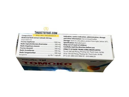 thuốc trĩ Tomoko điều trị trĩ táo bón đi ngoài ra máu thuốc đông dược