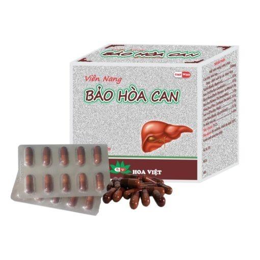 thuốc đông dược Bảo Hòa Can điều trị viêm gan mụn nhọt lở ngứa Hoa Việt