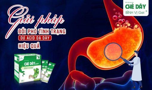 chè dây Bình Vị Gel điều trị viêm loét dạ dày do vi khuẩn HP hiệu quả