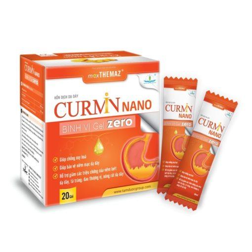 Curmin Nano Bình Vị Gel Zero giảm viêm đau trào ngược dạ dày cho người tiểu đường thuoctotso1